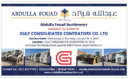 Abdulla Fouad Auctioneers GCC Auction