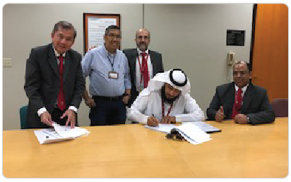 Contract Signing between TAQQAT and SEC