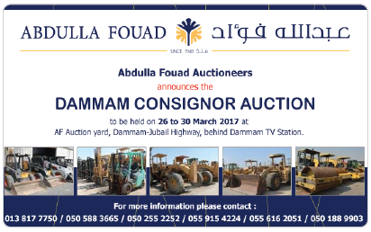 Abdulla Fouad Auctioneers Dammam Consignor Auction